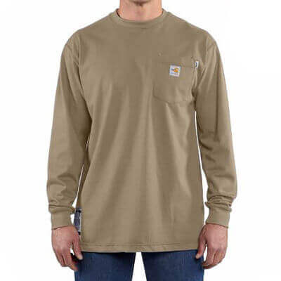 Carhartt FR - Men's FR Work-Dry Cotton Long Sleeve T-Shirt