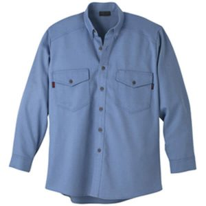 Workwrite Long Sleeve FR Work Shirt Medium Blue
