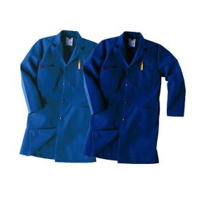 Workrite FR Lab Coat Royal & Navy Blue