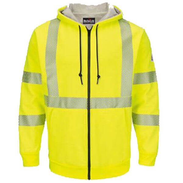 Bulwark FR - Hi-Vis Zip Front Fleece Sweatshirt with Lining
